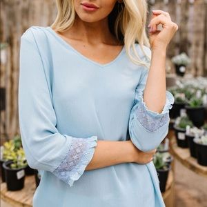 Just in Case Lace Blouse in Blue